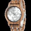 BOBO BIRD Ebony Quartz Watch Zebra Wood Watches for Men